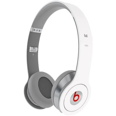 Monster Beats by Dr. Dre. Solo HD Headphones with Control Talk (White)